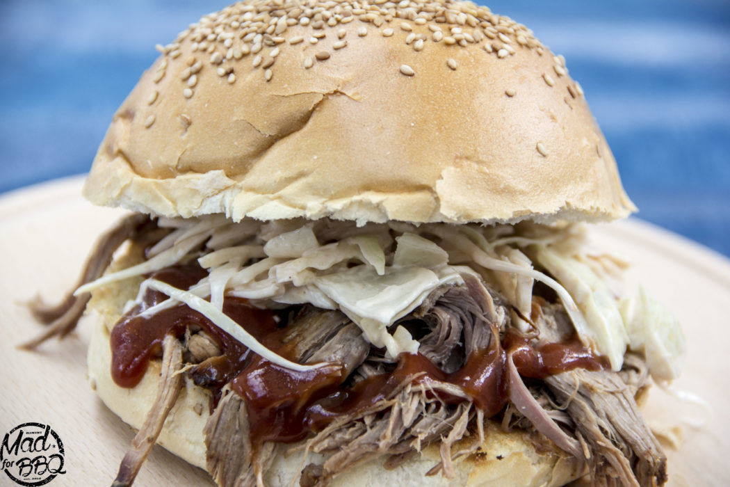 Smoked Pulled Pork with some Coleslaw and Barbecue Sause