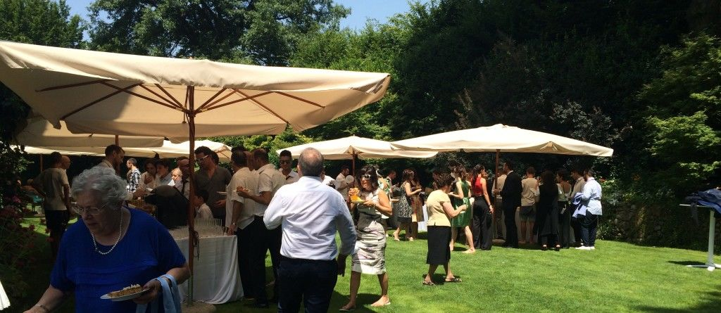 Antipasto a buffet in giardino - Backyard buffet on wedding event - Barbecue